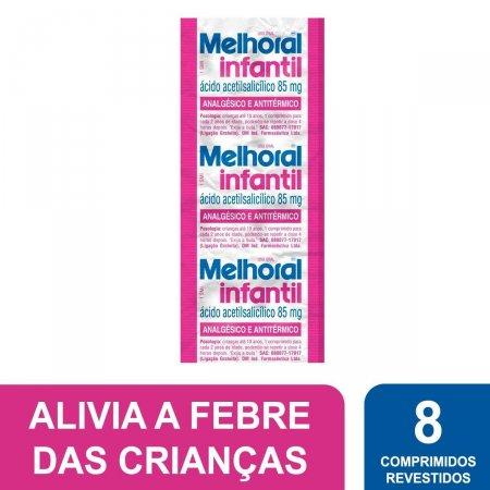 Melhoral Infantil 85mg com 8 Comprimidos Foto 2