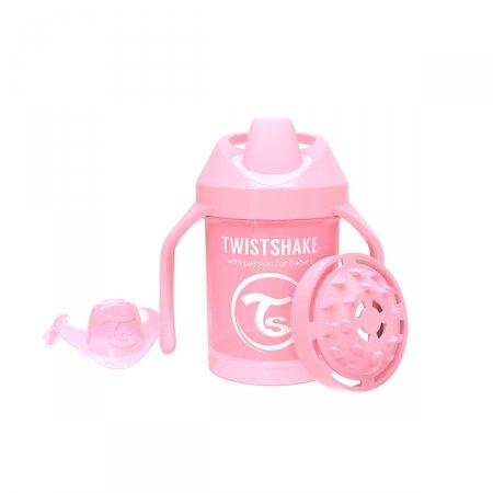 Copo de Treinamento Twistshake Mini Cup Rosa 4+ Meses