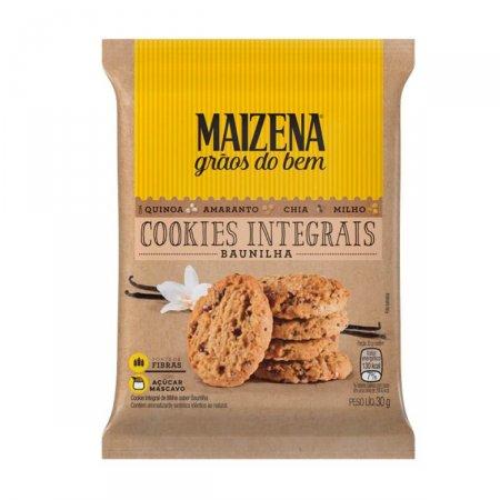 Mini Cookies Integrais de Baunilha Maizena Grãos do Bem