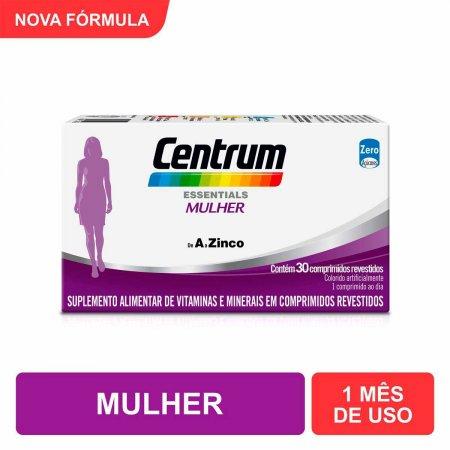 Multivitamínico Centrum Essentials Mulher de A a Zinco com 30 Comprimidos