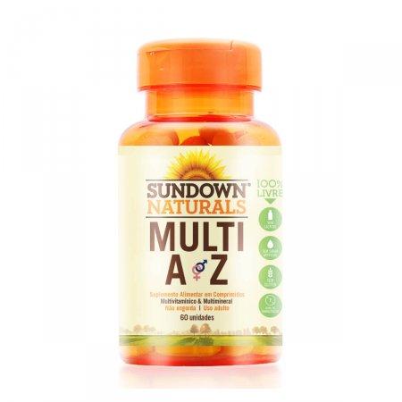 Multivitamínico Multi A-Z Sundown com 60 Comprimidos