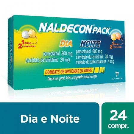 Naldecon Dia e Noite com 24 comprimidos