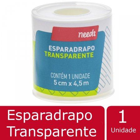 Esparadrapo Needs Transparente 5cm X 4,5m