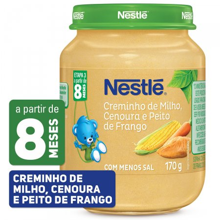 Papinha Nestlé Creminho de Milho, Cenoura e Peito de Frango Pote 170g