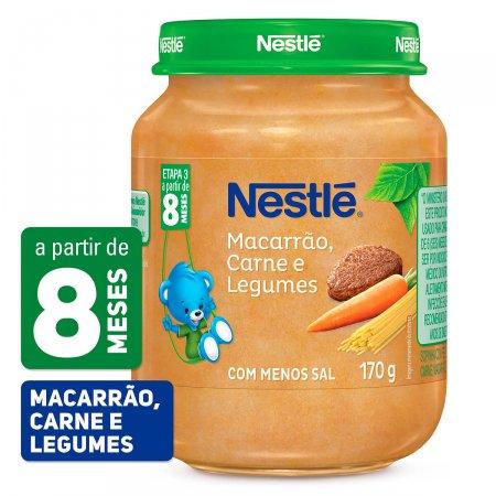 Papinha Nestlé Macarrão Carne e Legumes Pote 170g