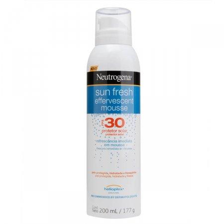 Protetor Solar Neutrogena Sun Fresh FPS30 Mousse Efervescente 200mL
