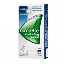 Nicorette Icemint 2mg Com 30 Gomas Mastigáveis