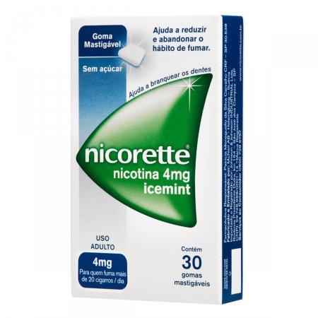 Nicorette Icemint 4mg Com 30 Gomas Mastigavéis