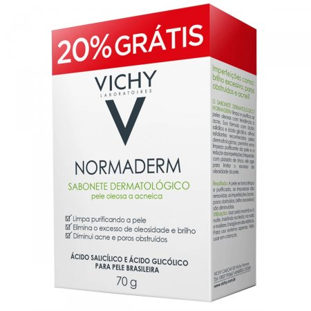Sabonete Facial de Limpeza Profunda Vichy Normaderm