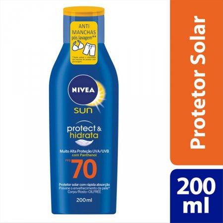Protetor Solar Nivea Sun Protect & Hidrata FPS70