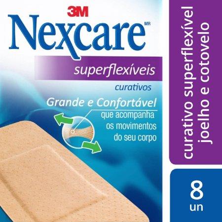 Curativo Nexcare Comfort Joelho e Cotovelo c/ 8 unidades