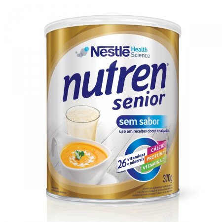Suplemento Alimentar Nestlé Nutren Senior Sem Sabor Lata 370g