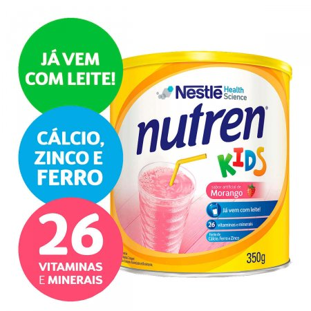 Complemento Alimentar Nestlé Nutren Kids Morango Lata 350g