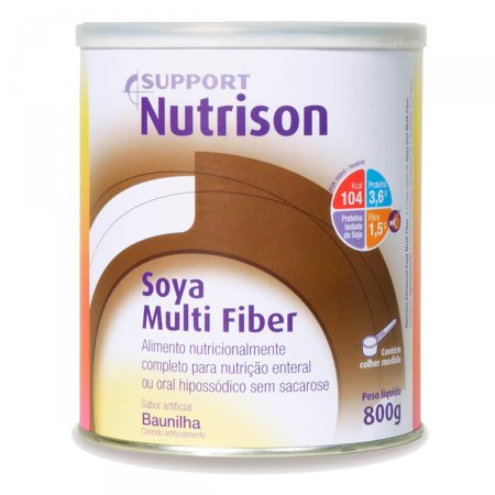 Nutrison Soya Multi Fiber Sabor Baunilha 800g