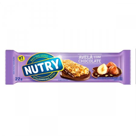 Barra de Cereal Nutry Sabor Avelã e Chocolate