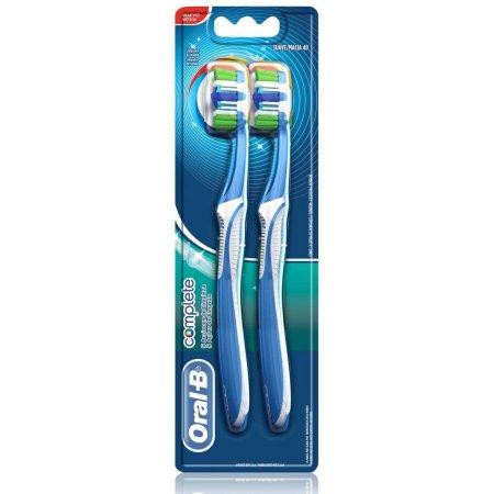Escova Dental Oral-B Complete 5X Ações de Limpeza Macia 40 2 Unidades