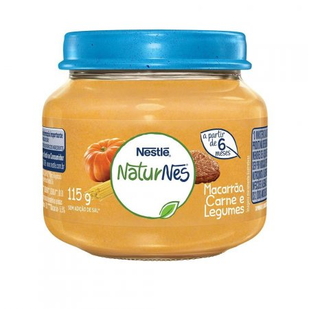 Papinha Nestlé Naturnes Carne, Legumes e Macarrão 115g