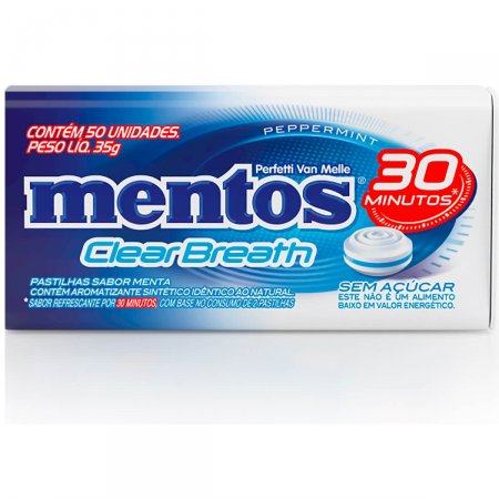 Pastilha Mentos Clear Brearh Peppermint 35g |