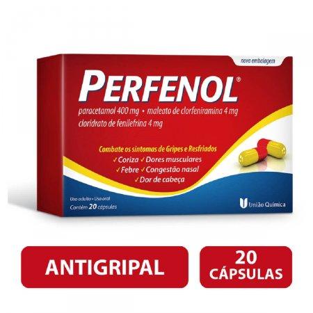 Antigripal Perfenol Gripes e Resfriados com 20 cápsulas