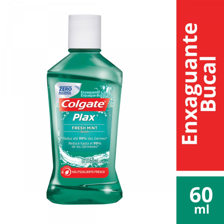 Enxaguante Bucal Colgate Plax Fresh Mint com 60ml