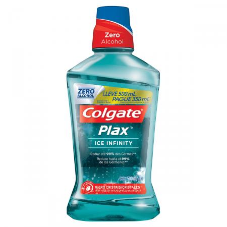 Exaguante Bucal Colgate Plax Ice Infinity