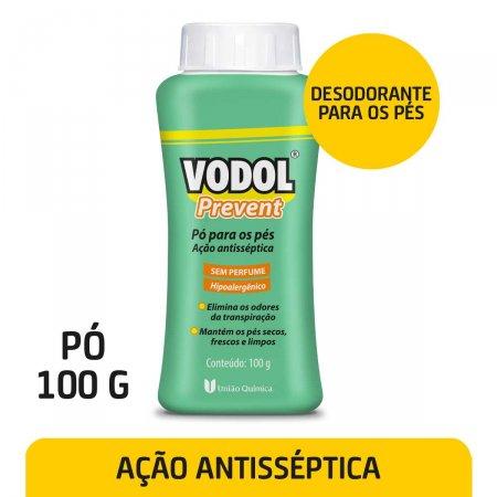 Pó para os Pés Vodol Prevent Sem Perfume 100g