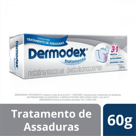 Pomada para Assaduras Dermodex Tratamento 100.000UI/g + 200mg/g com 60g