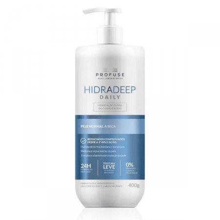 Hidratante para Corpo e Rosto Profuse Hidradeep Daily Pele Normal a Seca com 400g
