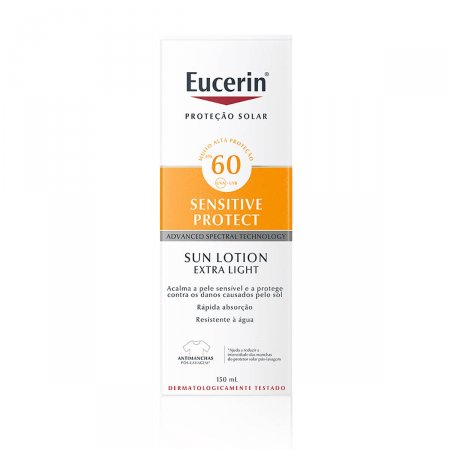 Protetor Solar Eucerin Sensitive Protect Sun Lotion Extra Light FPS60