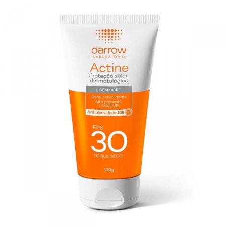 Protetor Solar Facial Darrow Actine Antioleosidade Sem Cor FPS 30 com 120g