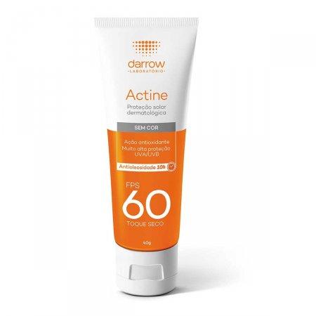 Protetor Solar Facial Actine sem Cor FPS60 40g |
