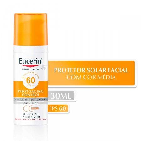 Protetor Solar Facial Eucerin Sun CC Cream Médio FPS 60 com 50ml