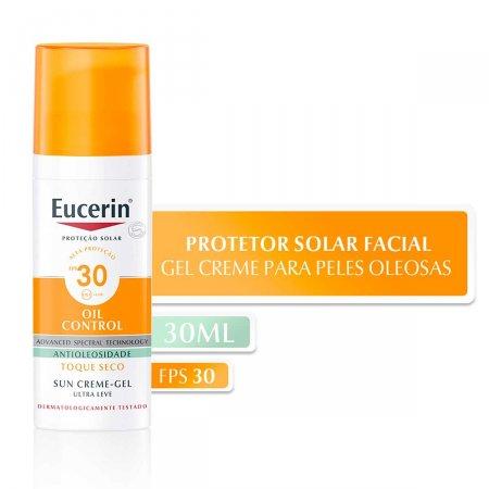 Protetor Solar Facial Eucerin Sun Oil Control FPS30 com 50ml