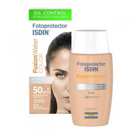 Protetor Solar Facial Isdin Fotoprotector Fusion Water Color FPS 50 com 50ml