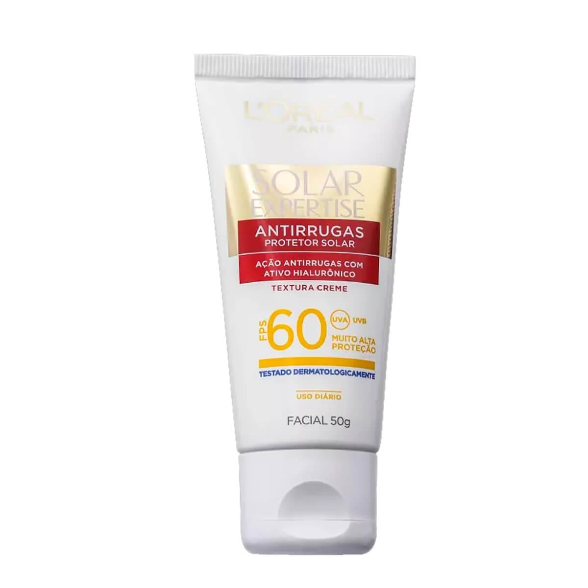 Protetor Solar Facial L'Oréal Expertise Antirrugas FPS 60 com 50g 50g
