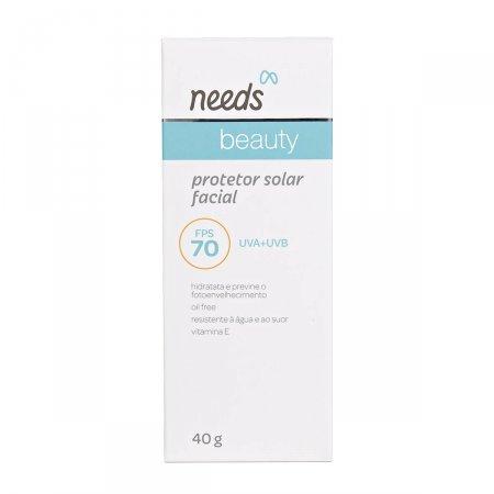 Protetor Solar Facial Needs Beauty Oil-Free FPS 70 com 40g