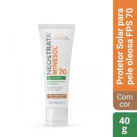 Protetor Solar Facial Com Cor Neostrata Minesol Oil Control Pele Morena Mais FPS com 40g