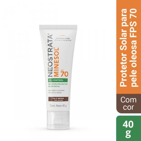 Protetor Solar Facial NeoStrata Minesol Oil Control Pele Negra FPS70