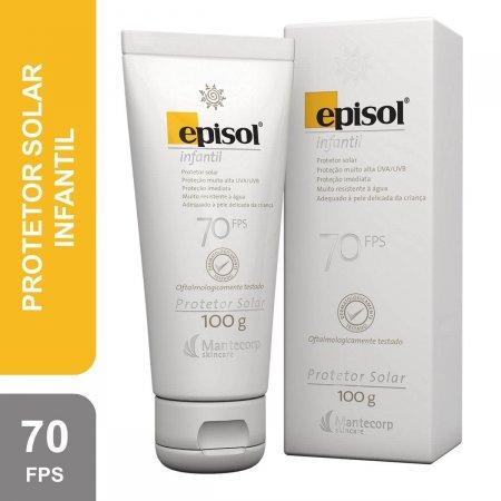 Protetor Solar Corporal Infantil Episol FPS70 com 100g