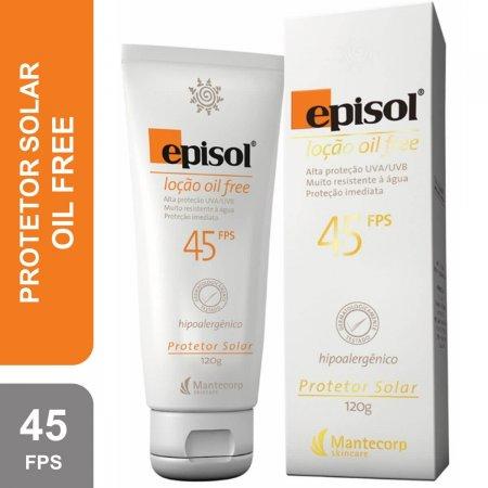 Protetor Solar Corporal Episol Loção Oil Free FPS 45 com 120g