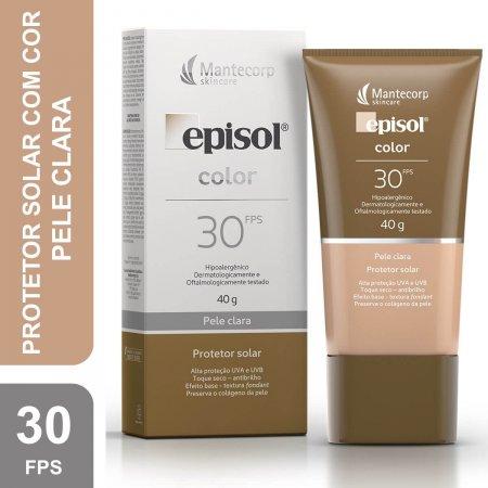Protetor Solar Facial Episol Color Pele Clara FPS30