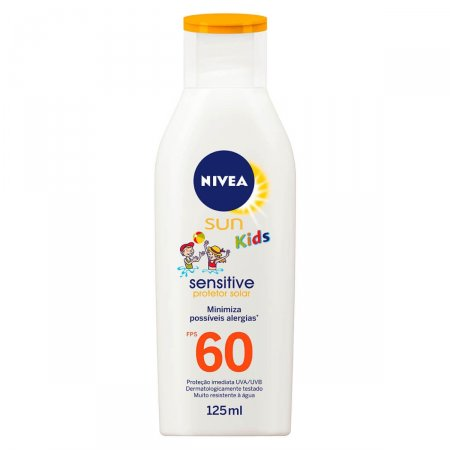 Protetor Solar Nivea Sun Kids Sensitive&Pure FPS 60 125mL