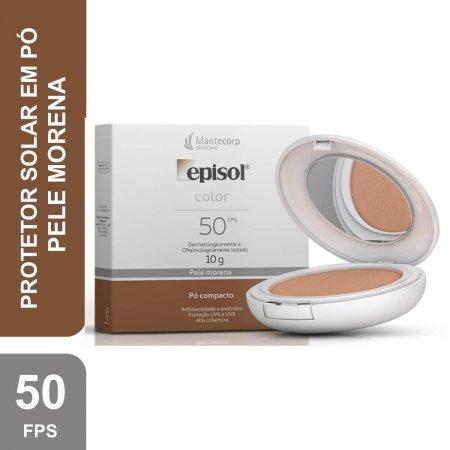 Protetor Solar Pó Compacto Episol Color Pele Morena FPS50 10g