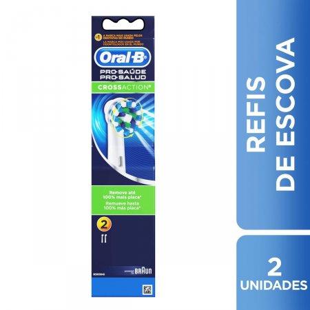 Refil para Escova Dental Elétrica Oral-B Pro-Saúde Cross Action 2 Unidades