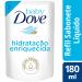 Refil Sabonete Líquido Dove Baby Hidratação Enriquecida 180ml   Onofre.com Foto 2