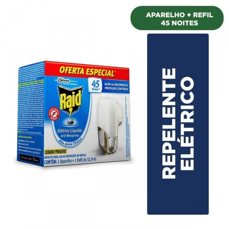 Repelente Elétrico Líquido Raid Anti Mosquitos
