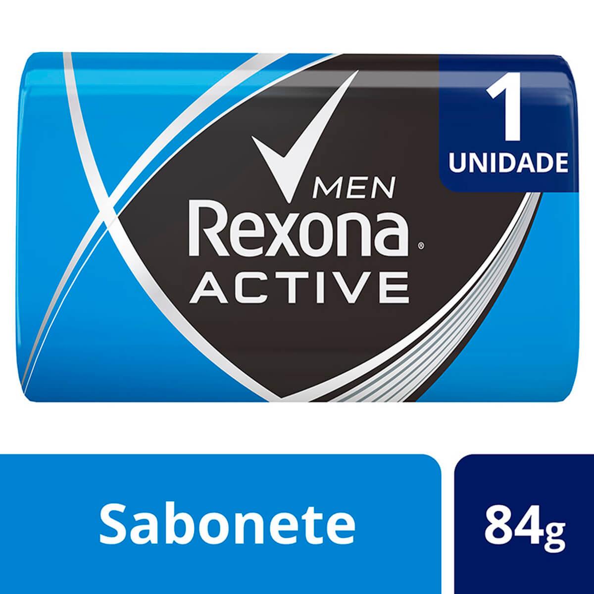 Sabonete em Barra Rexona Men Active Fresh Azul 84g 84g