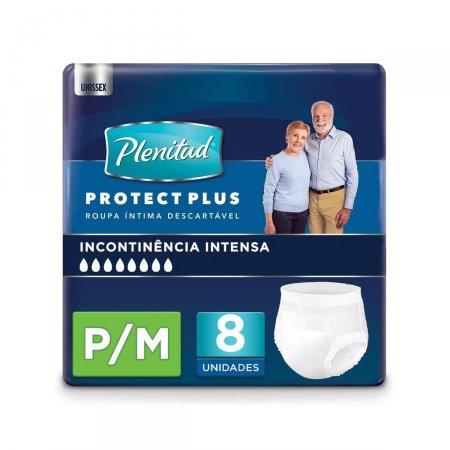 Roupa Íntima Plenitud Protect Plus P/M com 8 Unidades