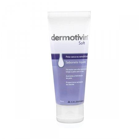 Sabonete Líquido Facial Dermotivin Soft Pele Seca com 70ml