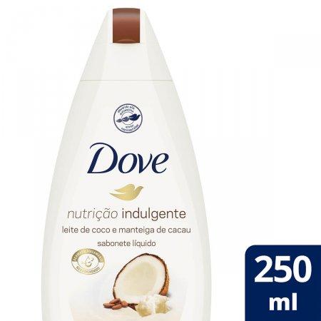 Sabonete Líquido Dove Nutrição Indulgente Leite de Coco e Manteiga de Cacau